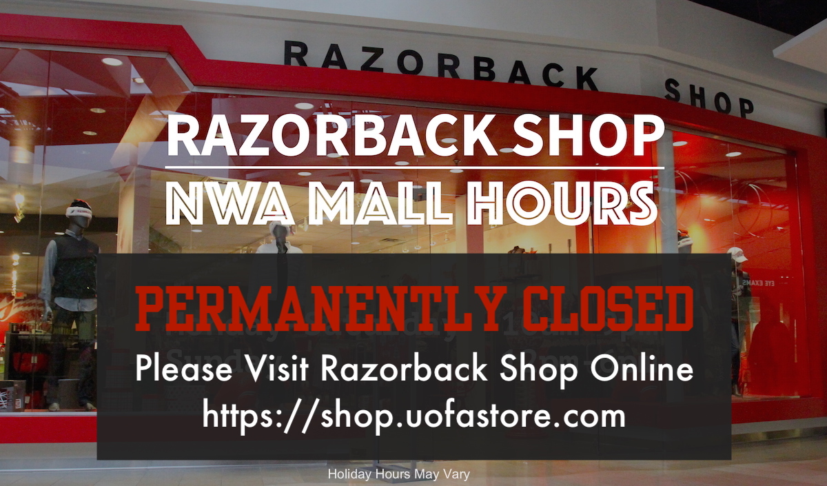 Razorback Shop NWA Mall Hours