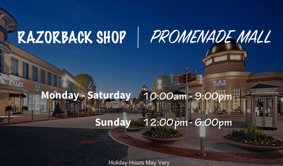 Razorback Shop Promenade Mall Hours